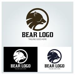 Bear logo design template ,Vector illustration