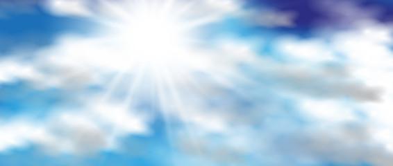 Hintergrund Sonne Wolken