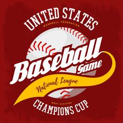 Ball for american sport baseball game logo