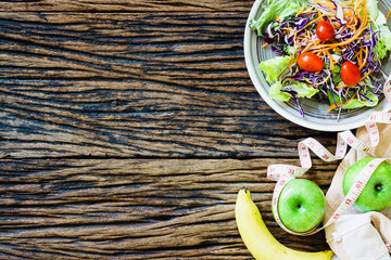 Healthy eating, dieting, slimming and weight loss concept - clos