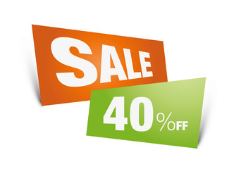 sale, 40%, discount, sign, tag