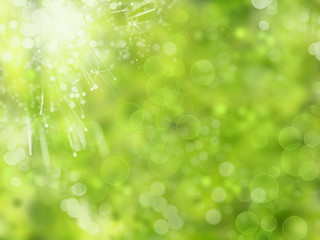 abstract background spring green yellow blurred forest