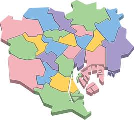 東京23区 地図