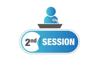 Speaker, session, microphone, podium, sign, button, 2nd