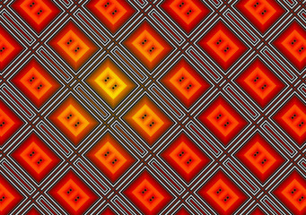 Abstract background of a red glass rectangulars