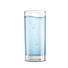 Glass of clean water isolated on white background. Stock vector
