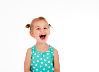 child screaming with joy expression