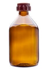 Glass bottle for a medicinal preparation.
