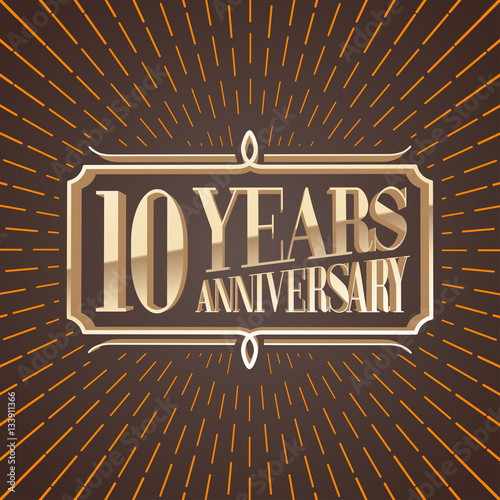 Quot years anniversary vector illustration banner icon