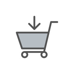 Shopping Cart Icon Illustration Isolated Vector Sign Symbol