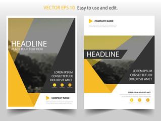 yellow black vector business proposal leaflet brochure flyer