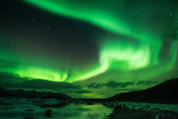 Aurora at Jökulsárlón