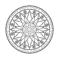 Flower mandala over white