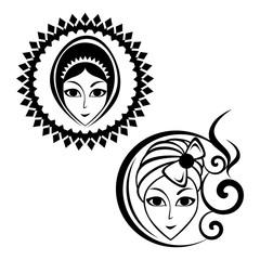 beautiful woman's face logo