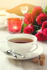 Romantic morning Tea for two