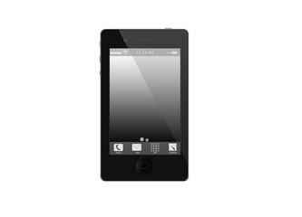 Черный мобильный телефон,без фона