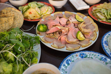 """Cau Mong barbequed veal is as famous as Quang noodle in Da Nang and Quang Nam, Vietnam. It is also called with familiar name """"Cau Mong rare veal"""""""