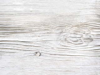 Old scratched white painted boards background