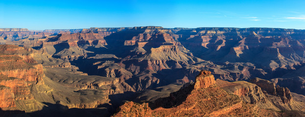 Panoramic of Grand Canyon, south rim.