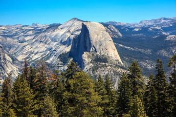Mountain the half dome. Yosemite, California. U.S