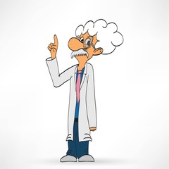 Scientist on a white background, vector illustration