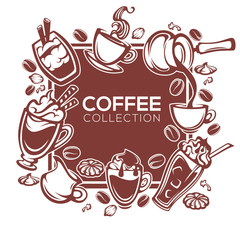 vector design templeta for your cafe or restaurant with coffee i