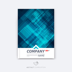 Abstract composition, blue cosmic sky quadrate font texture, square part construction, a4 brochure title sheet, creative tetragon figure icon, commercial logo surface, firm banner form, flier fiber