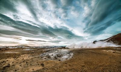 A volcanic landscape.