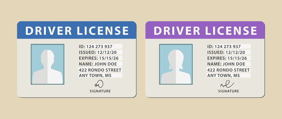 Set of driver licenses