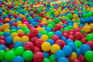 Colorful playing balls