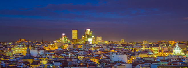 Fotomurales - The Skyline of Madrid