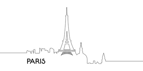 Isolated outline of Paris