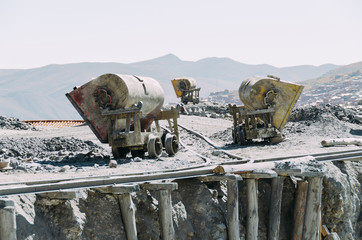 Cement mixers at construction site