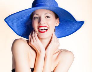 Feeling happy portrait of beautiful woman.
