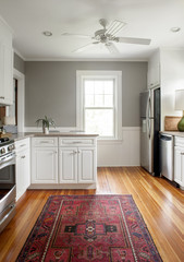 Interior of domestic kitchen
