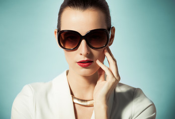 Portrait of female fashion model.
