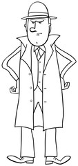 disgusted man coloring page