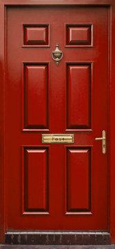 red door isolated