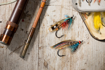 Old fashioned fishing flies