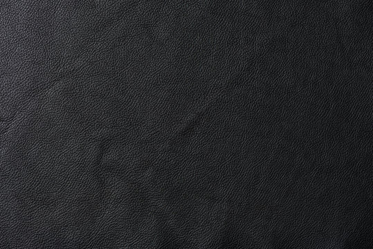 Black leather swatch section