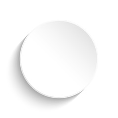 White button on white background