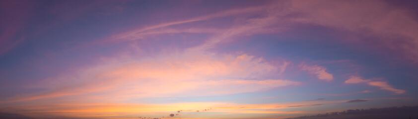 Beautiful sky When the sun shines