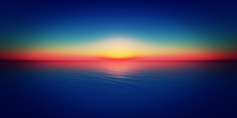 sunset horizon sea Wall mural