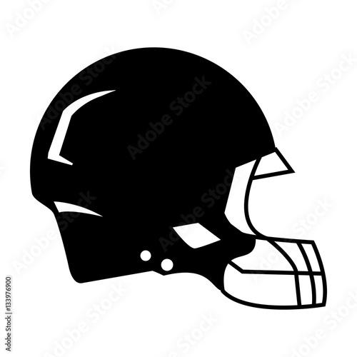 """silhouette american football helmet protection vector ..."