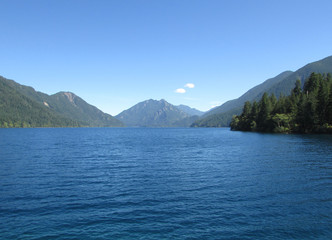 Lake Crescent and Mount Storm King at Olympic National Park
