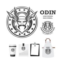 Odin gods Vector logo design template.