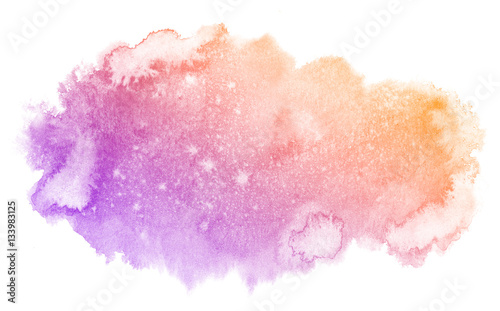 Abstract Purple Watercolor On White Background The Color