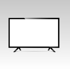 LCD or LED tv screen. Display blank, technology digital, electronic equipment, mockup. Vector illustration