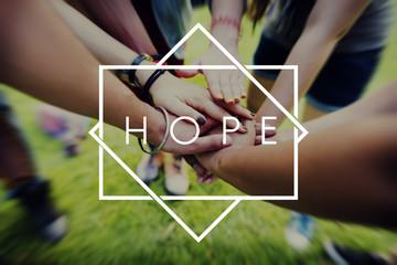 Hope Belief Believe Imagine Praying Trust Tempel Concept Wall mural