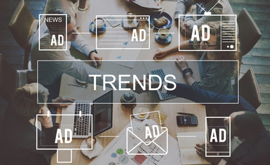 Trends Market Trends Planning Strategy Direction Business Concep